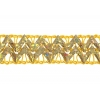 "Metallic 5/8"" Double Braid Gold Hologram"